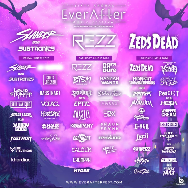 ever after main stage lineup