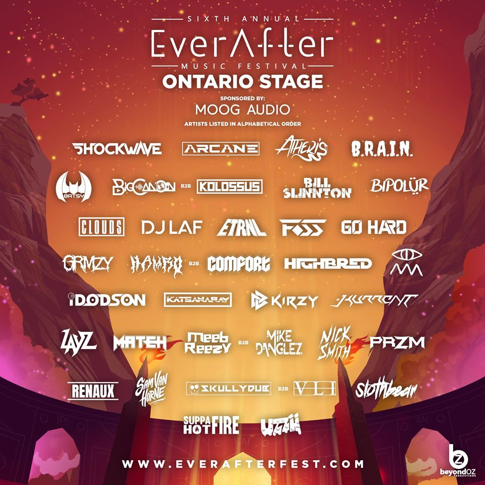 Ontario stage lineup for Ever After Fest