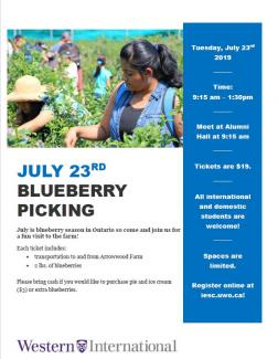 Blueberry Picking Trip