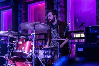 Jonah Gillespie on drums