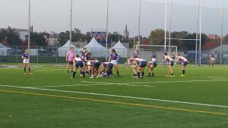 Mustangs Women's Rugby Team Ruck