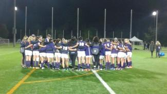 Mustangs Women's Rugby Team Huddle