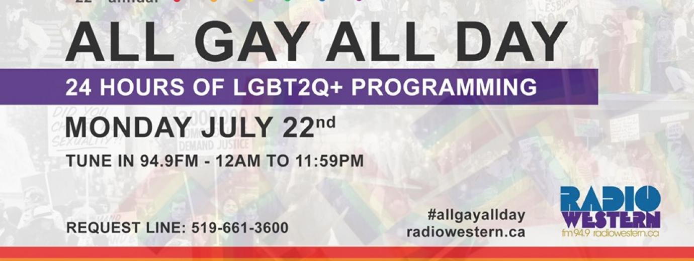 QueerEvents.ca - London event listing - All Gay All Day 2019