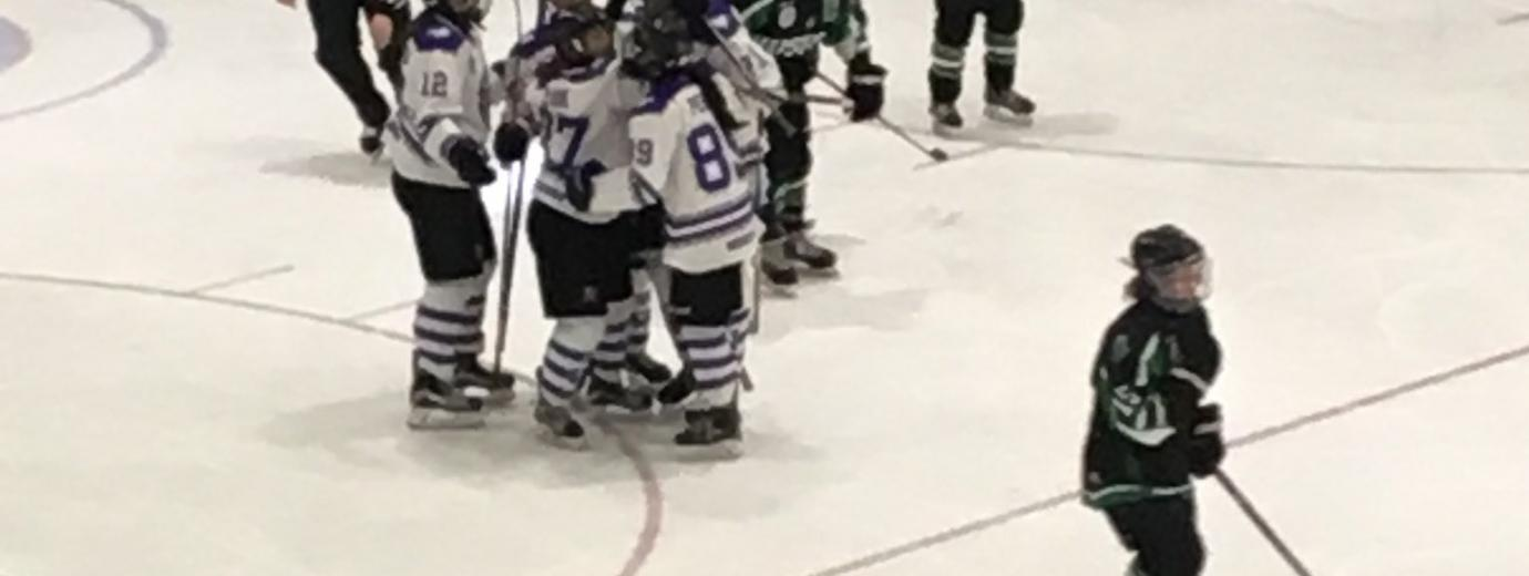 Western Celebrates a Goal Against Saskatchewan