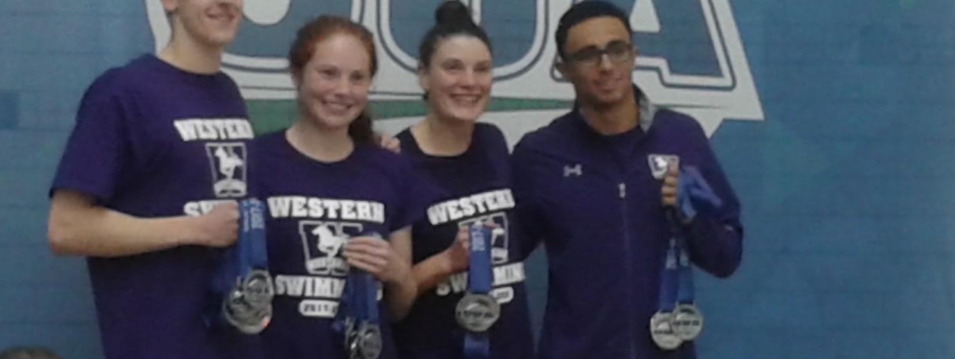 Western's Elite Swimmers Collecting Well-Earned Awards!